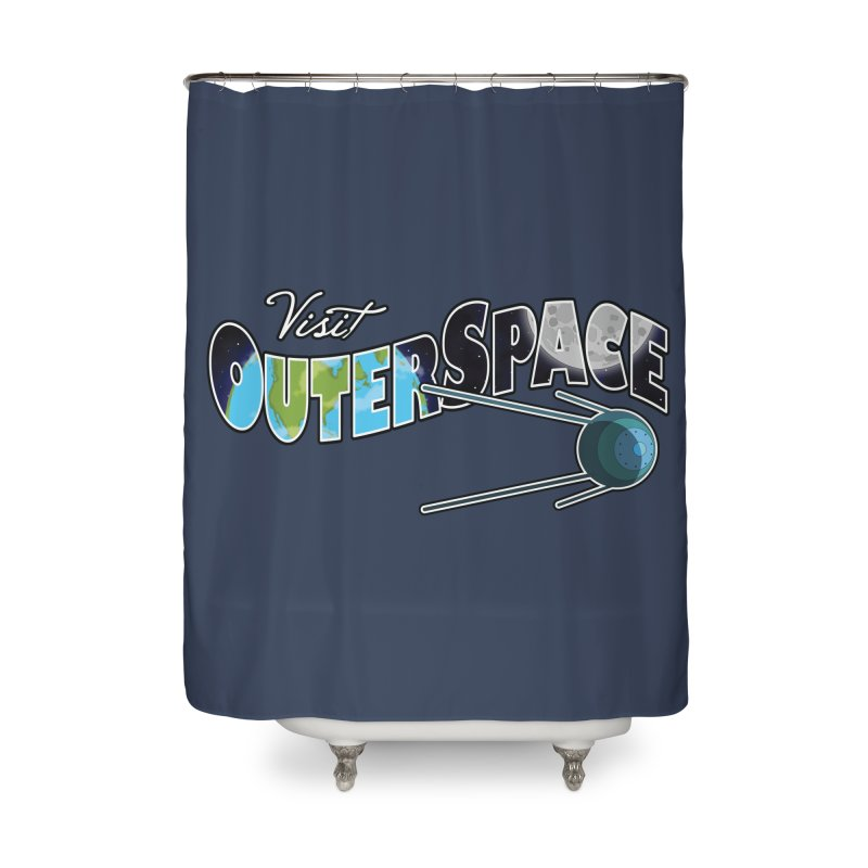 Visit Outer Space Home Shower Curtain by Kamonkey's Artist Shop