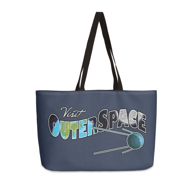 Visit Outer Space Accessories Weekender Bag Bag by Kamonkey's Artist Shop