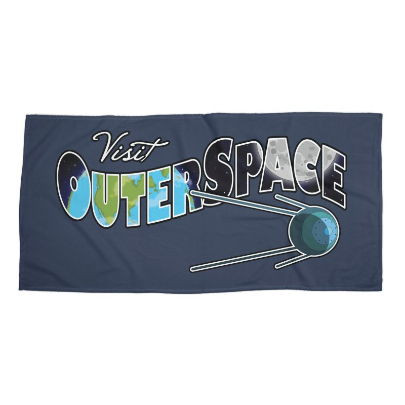 Visit Outer Space Accessories Beach Towel by Kamonkey's Artist Shop