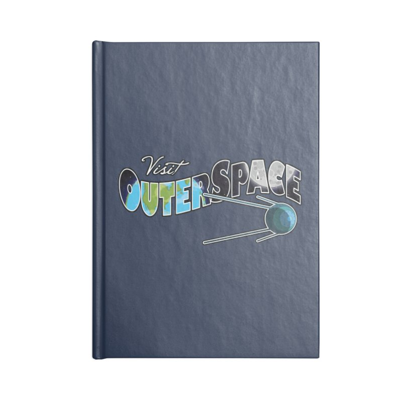 Visit Outer Space Accessories Blank Journal Notebook by Kamonkey's Artist Shop
