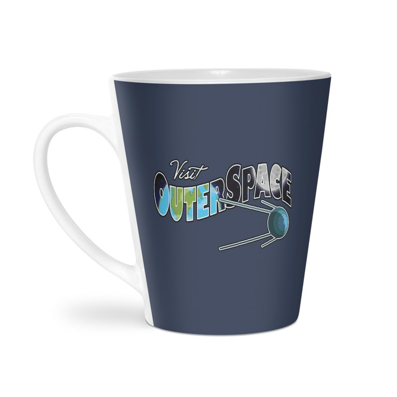 Visit Outer Space Accessories Latte Mug by Kamonkey's Artist Shop