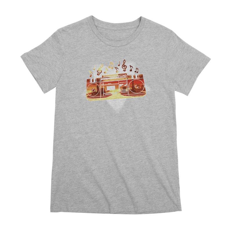 Summer Playlist, Summer Lovin' Women's Premium T-Shirt by Kamonkey's Artist Shop