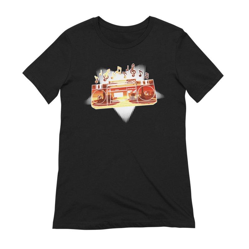 Summer Playlist, Summer Lovin' Women's Extra Soft T-Shirt by Kamonkey's Artist Shop