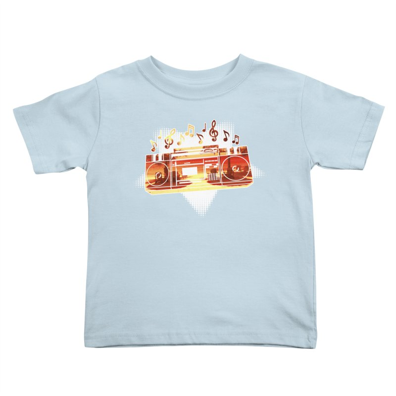 Summer Playlist, Summer Lovin' Kids Toddler T-Shirt by Kamonkey's Artist Shop