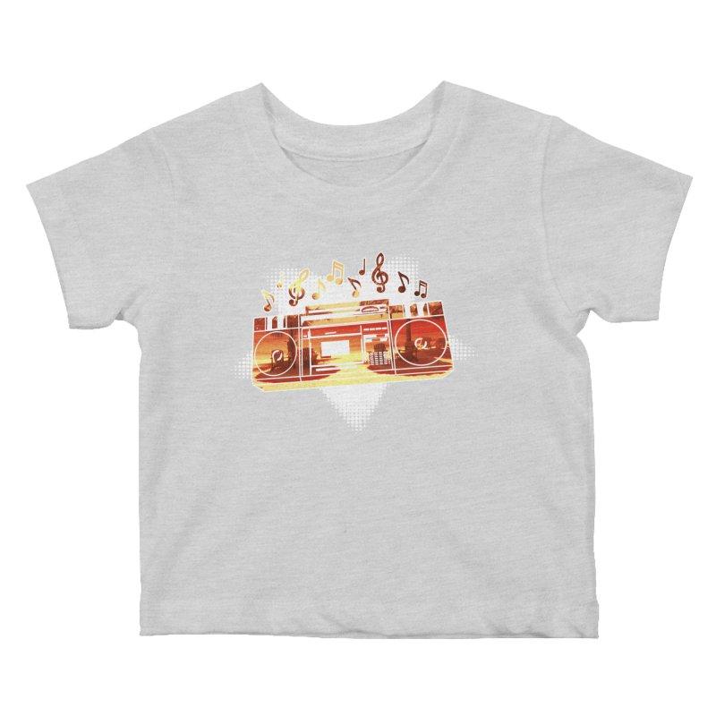 Summer Playlist, Summer Lovin' Kids Baby T-Shirt by Kamonkey's Artist Shop