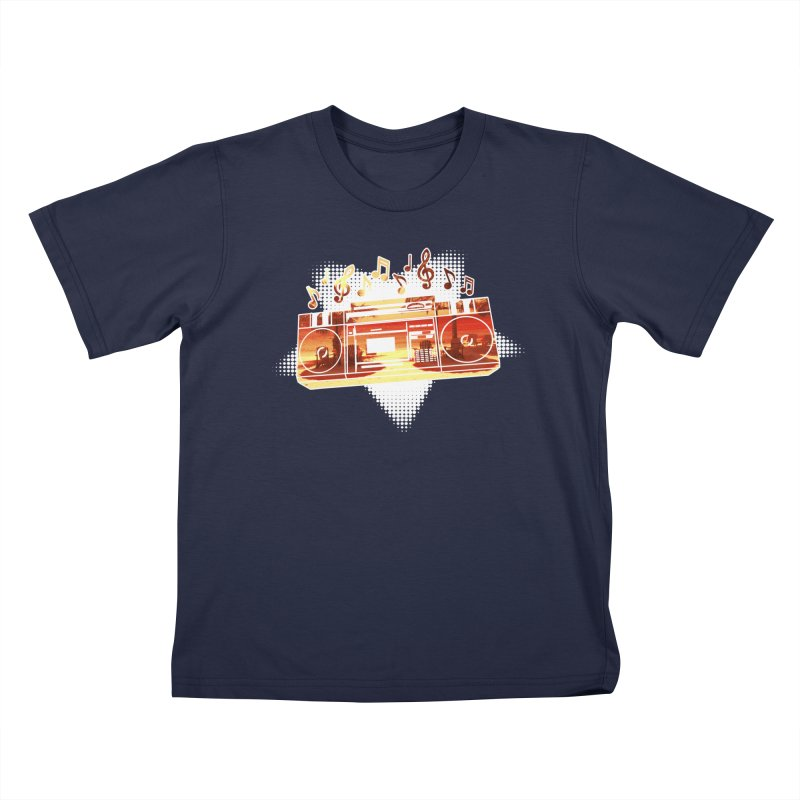 Summer Playlist, Summer Lovin' Kids T-Shirt by Kamonkey's Artist Shop