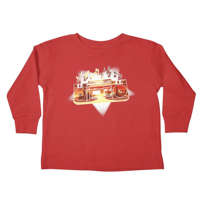 Summer Playlist, Summer Lovin' Kids Toddler Longsleeve T-Shirt by Kamonkey's Artist Shop
