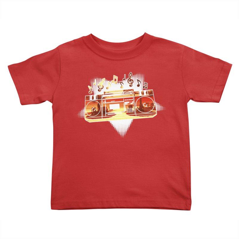 Summer Playlist, Summer Lovin' Kids Toddler T-Shirt by Kamonkey's Artist Shop