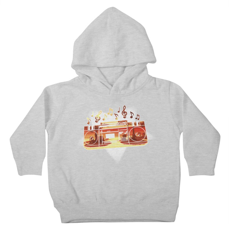Summer Playlist, Summer Lovin' Kids Toddler Pullover Hoody by Kamonkey's Artist Shop