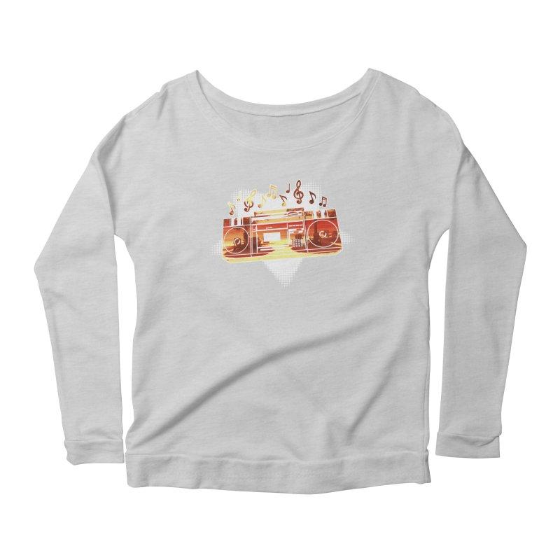 Summer Playlist, Summer Lovin' Women's Scoop Neck Longsleeve T-Shirt by Kamonkey's Artist Shop