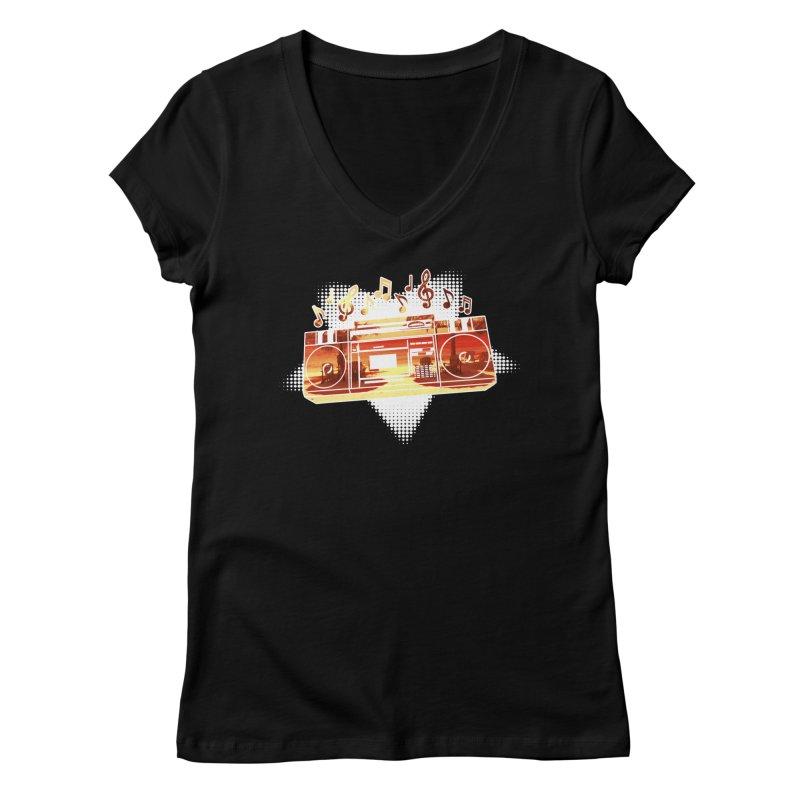 Summer Playlist, Summer Lovin' Women's Regular V-Neck by Kamonkey's Artist Shop