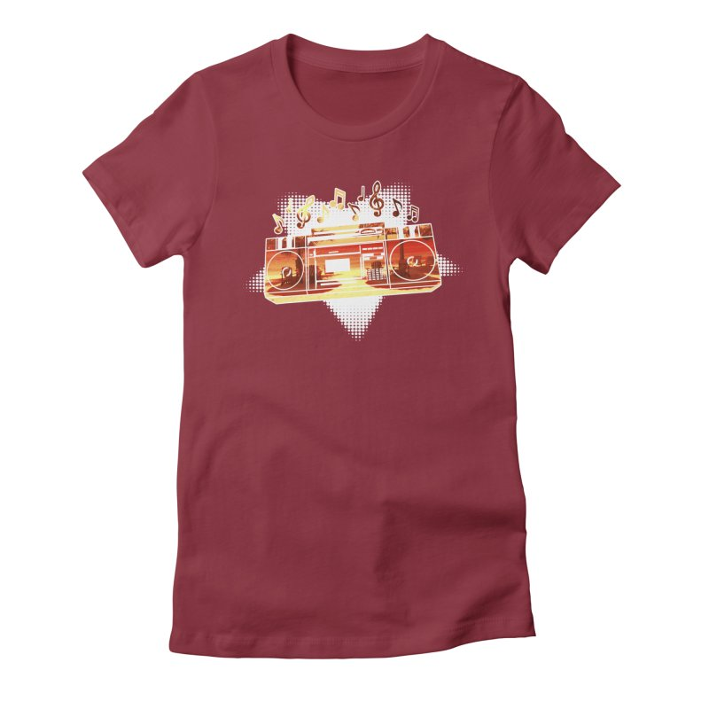 Summer Playlist, Summer Lovin' Women's Fitted T-Shirt by Kamonkey's Artist Shop