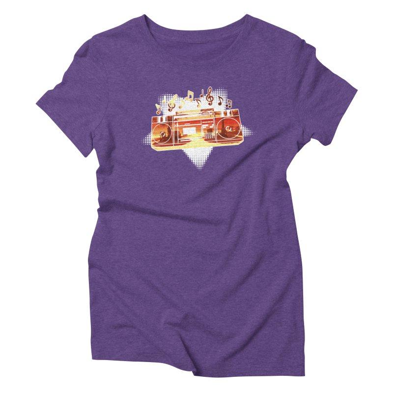 Summer Playlist, Summer Lovin' Women's Triblend T-Shirt by Kamonkey's Artist Shop