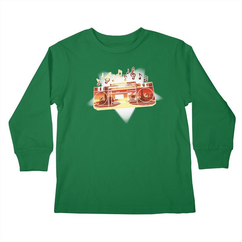Summer Playlist, Summer Lovin' Kids Longsleeve T-Shirt by Kamonkey's Artist Shop