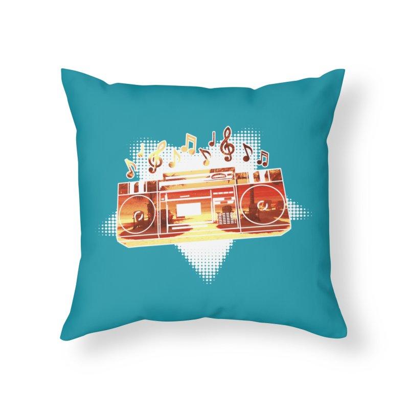 Summer Playlist, Summer Lovin' Home Throw Pillow by Kamonkey's Artist Shop