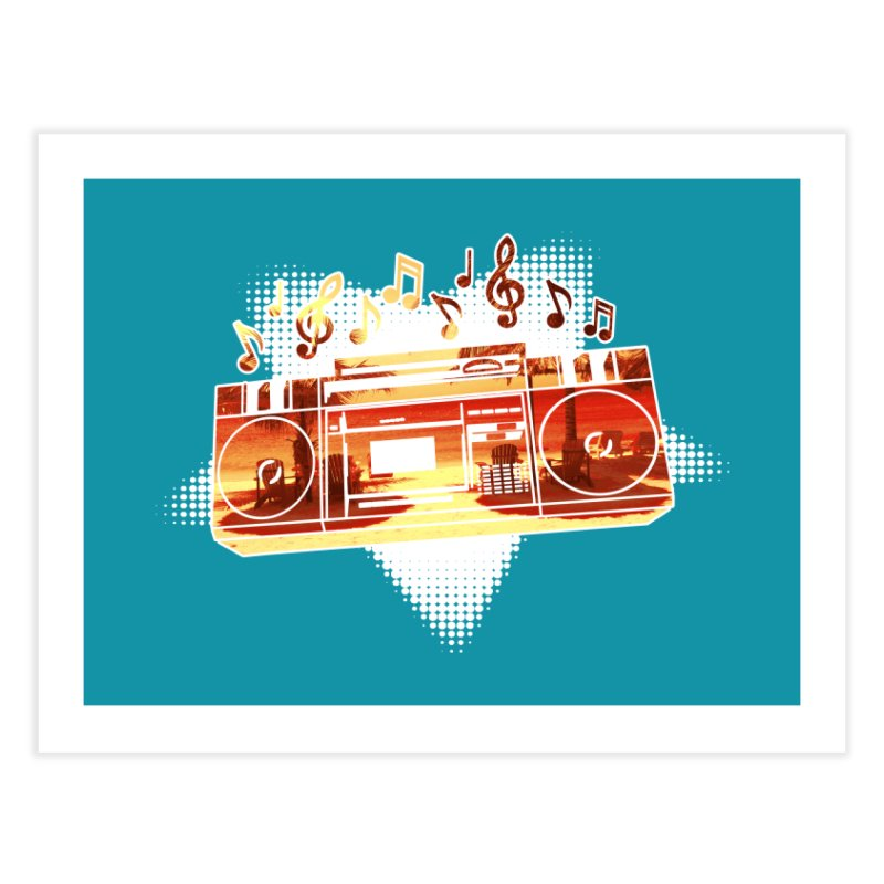 Summer Playlist, Summer Lovin' Home Fine Art Print by Kamonkey's Artist Shop