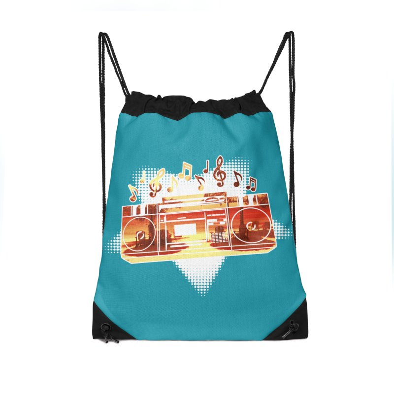 Summer Playlist, Summer Lovin' Accessories Drawstring Bag Bag by Kamonkey's Artist Shop