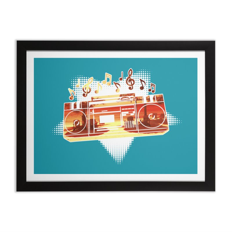 Summer Playlist, Summer Lovin' Home Framed Fine Art Print by Kamonkey's Artist Shop