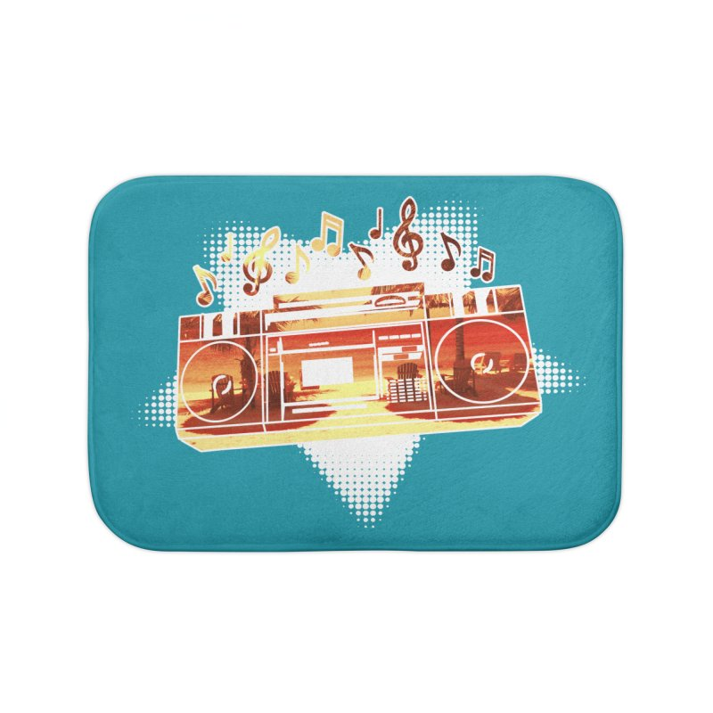 Summer Playlist, Summer Lovin' Home Bath Mat by Kamonkey's Artist Shop