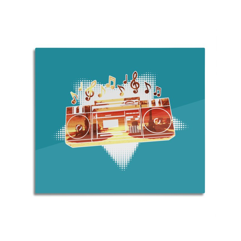 Summer Playlist, Summer Lovin' Home Mounted Aluminum Print by Kamonkey's Artist Shop