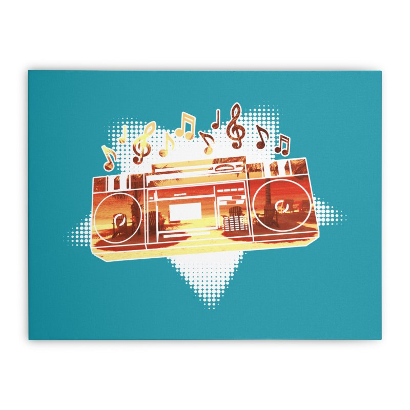 Summer Playlist, Summer Lovin' Home Stretched Canvas by Kamonkey's Artist Shop