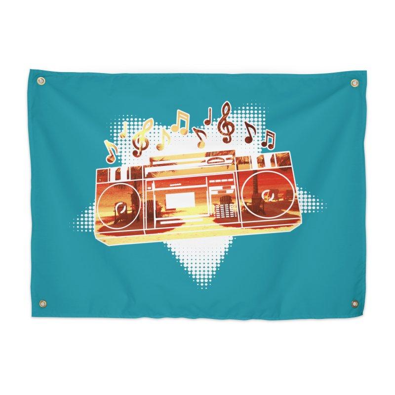Summer Playlist, Summer Lovin' Home Tapestry by Kamonkey's Artist Shop