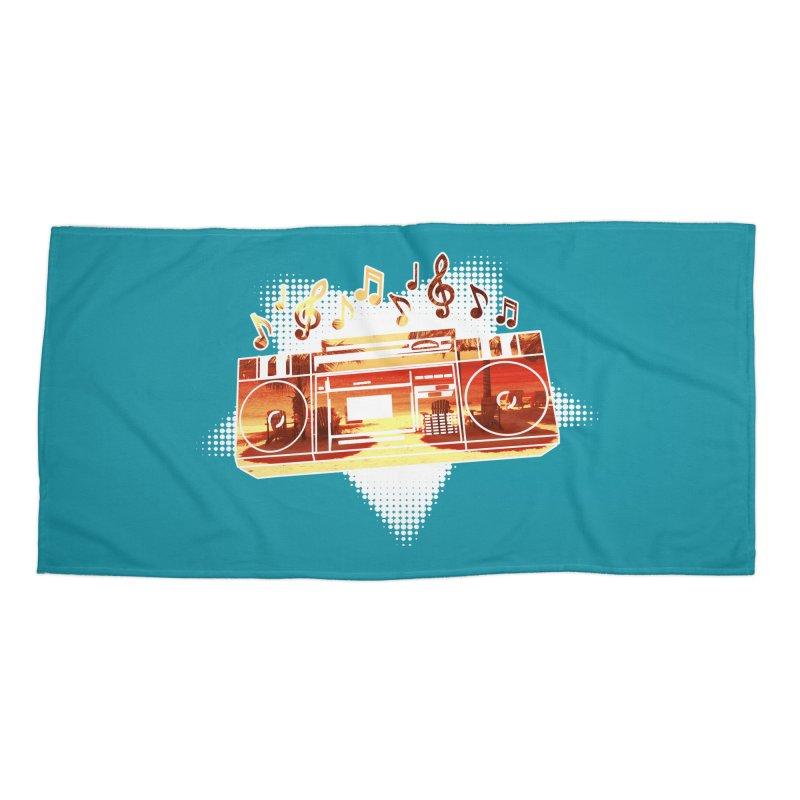 Summer Playlist, Summer Lovin' Accessories Beach Towel by Kamonkey's Artist Shop