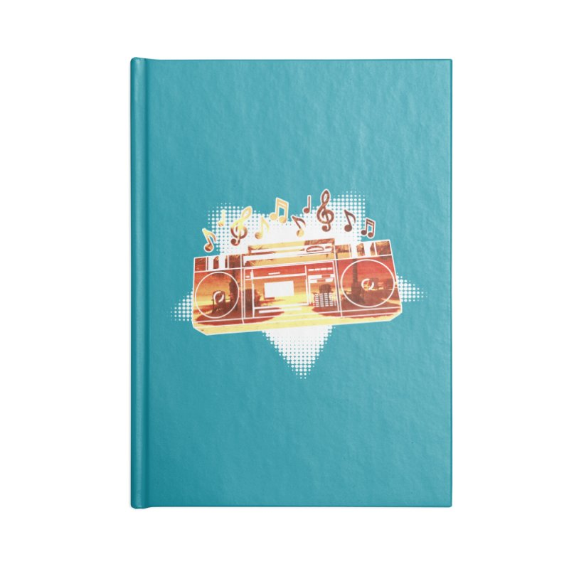 Summer Playlist, Summer Lovin' Accessories Lined Journal Notebook by Kamonkey's Artist Shop