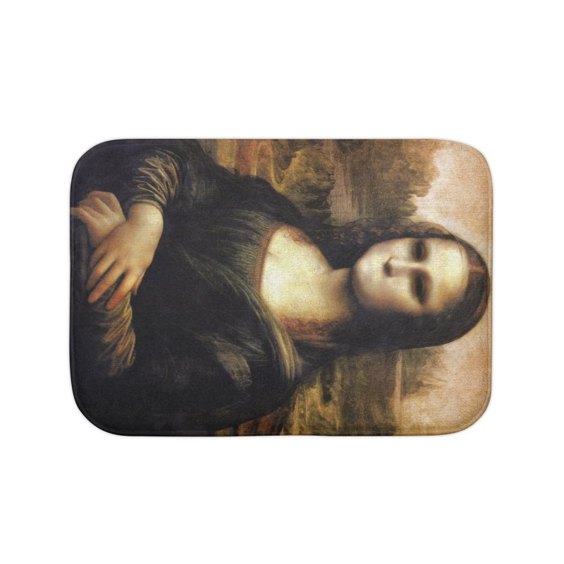 Silent Mona Lisa Home Bath Mat by Kamonkey's Artist Shop