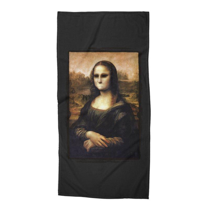 Silent Mona Lisa Accessories Beach Towel by Kamonkey's Artist Shop