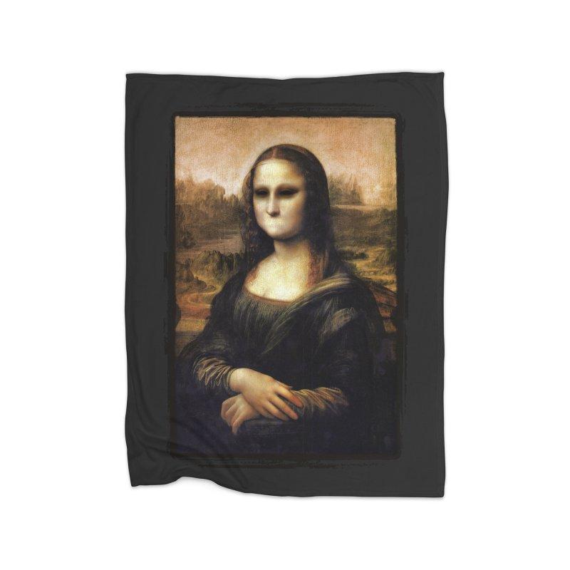 Silent Mona Lisa Home Fleece Blanket Blanket by Kamonkey's Artist Shop
