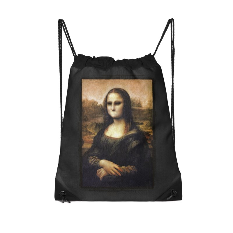 Silent Mona Lisa Accessories Drawstring Bag Bag by Kamonkey's Artist Shop