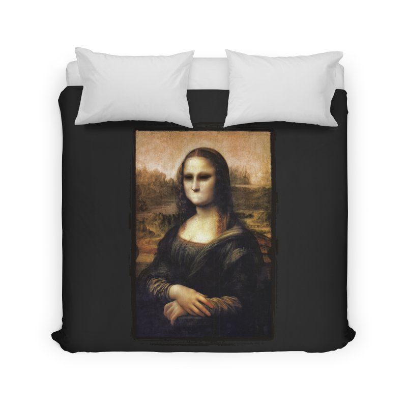 Silent Mona Lisa Home Duvet by Kamonkey's Artist Shop