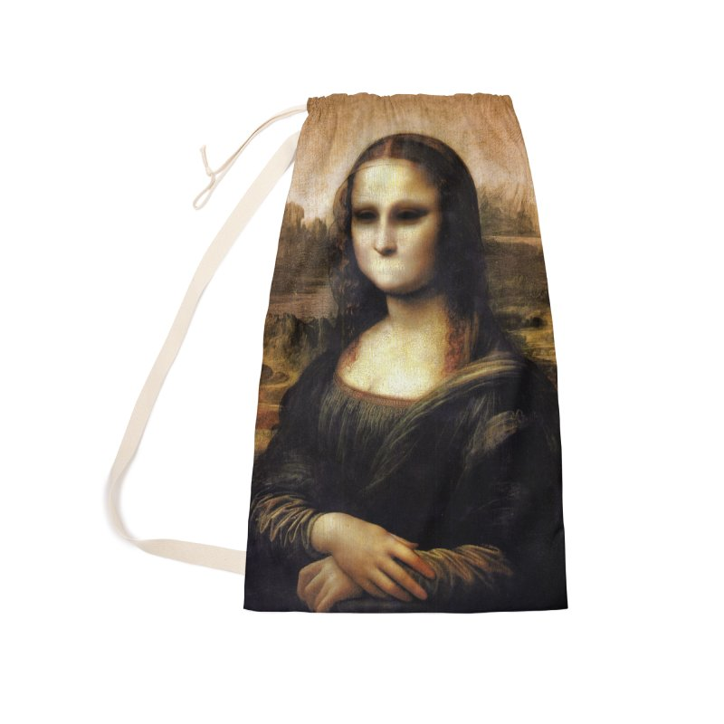 Silent Mona Lisa Accessories Laundry Bag Bag by Kamonkey's Artist Shop