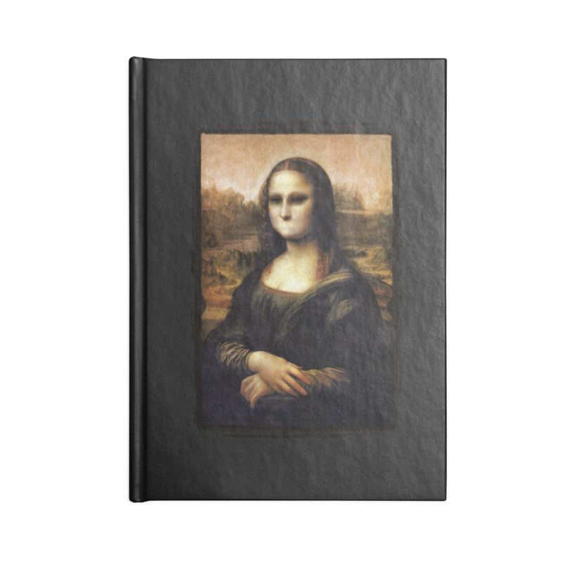 Silent Mona Lisa Accessories Lined Journal Notebook by Kamonkey's Artist Shop