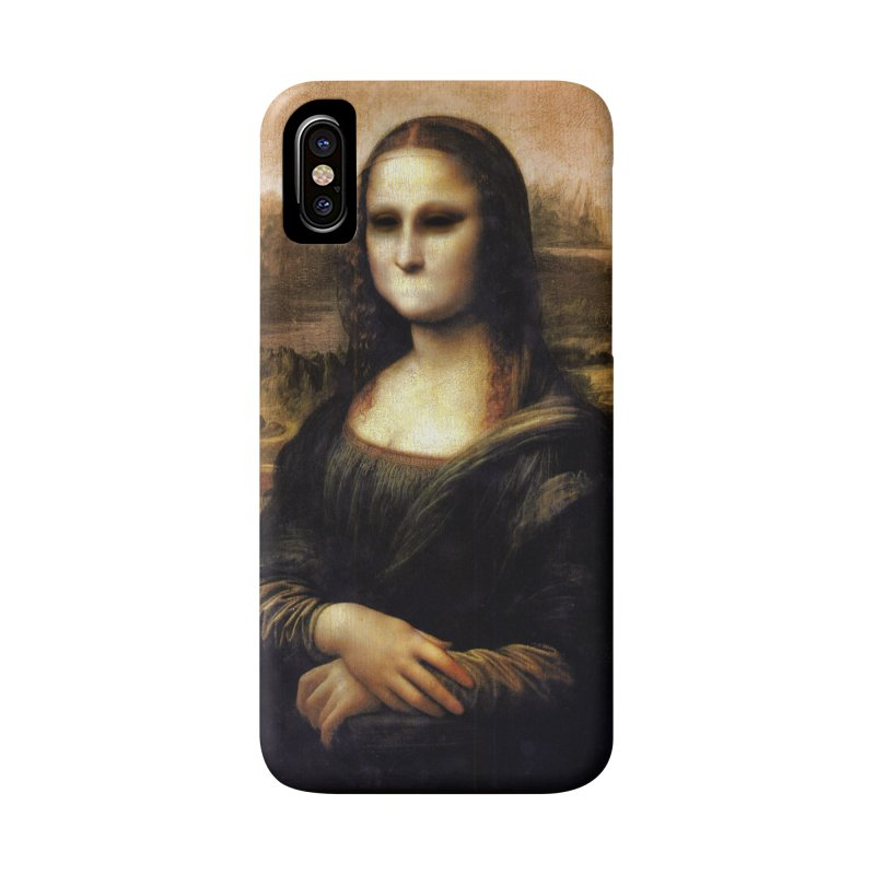 Silent Mona Lisa Accessories Phone Case by Kamonkey's Artist Shop