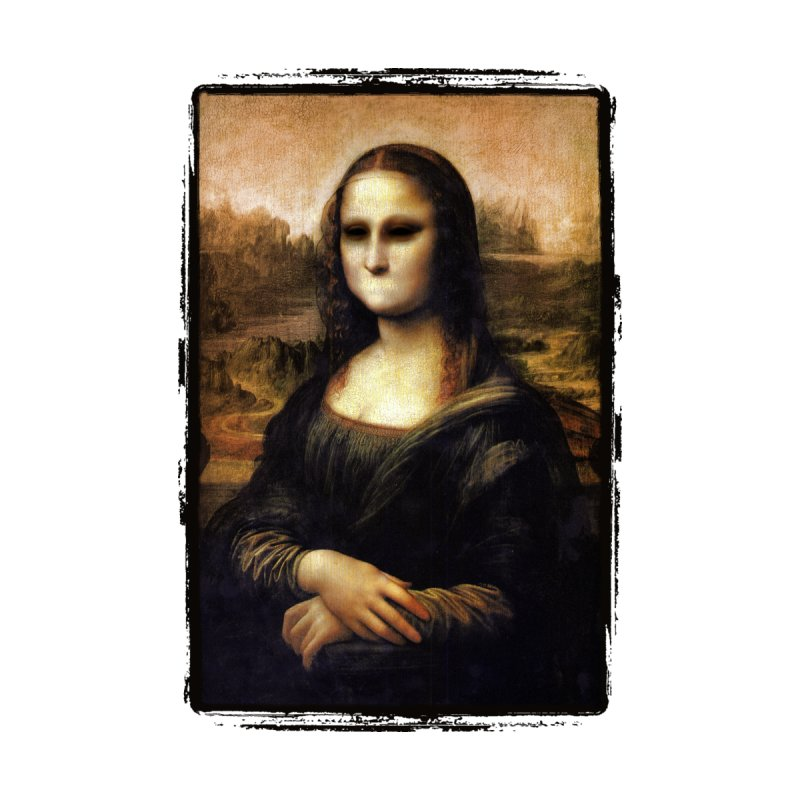 Silent Mona Lisa Women's Scoop Neck by Kamonkey's Artist Shop