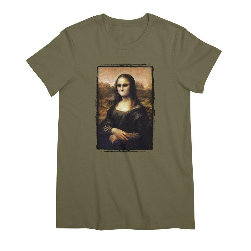 Silent Mona Lisa Women's Premium T-Shirt by Kamonkey's Artist Shop