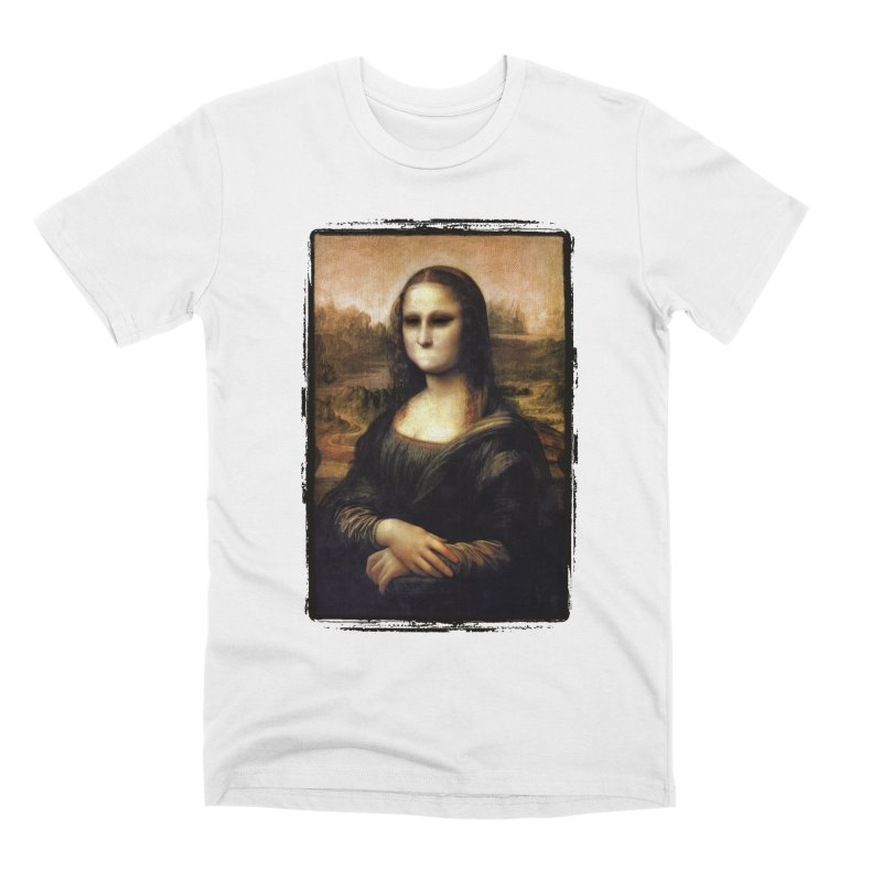 Silent Mona Lisa Men's Premium T-Shirt by Kamonkey's Artist Shop