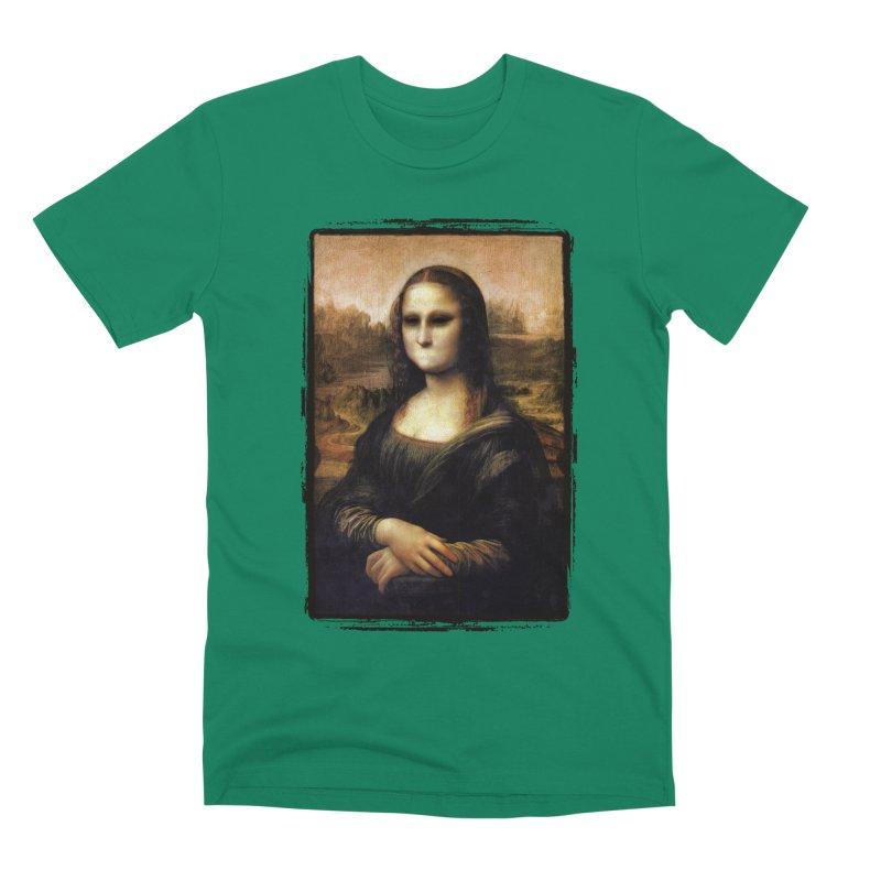 Silent Mona Lisa Men's Premium T-Shirt by Kamonkey's Artist Shop
