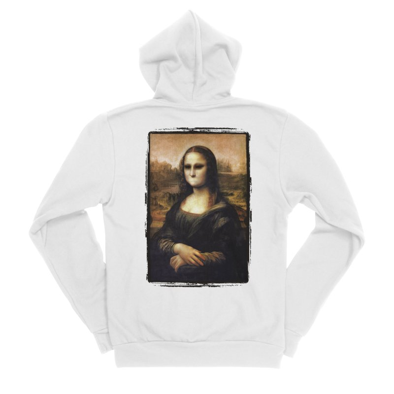 Silent Mona Lisa Women's Sponge Fleece Zip-Up Hoody by Kamonkey's Artist Shop