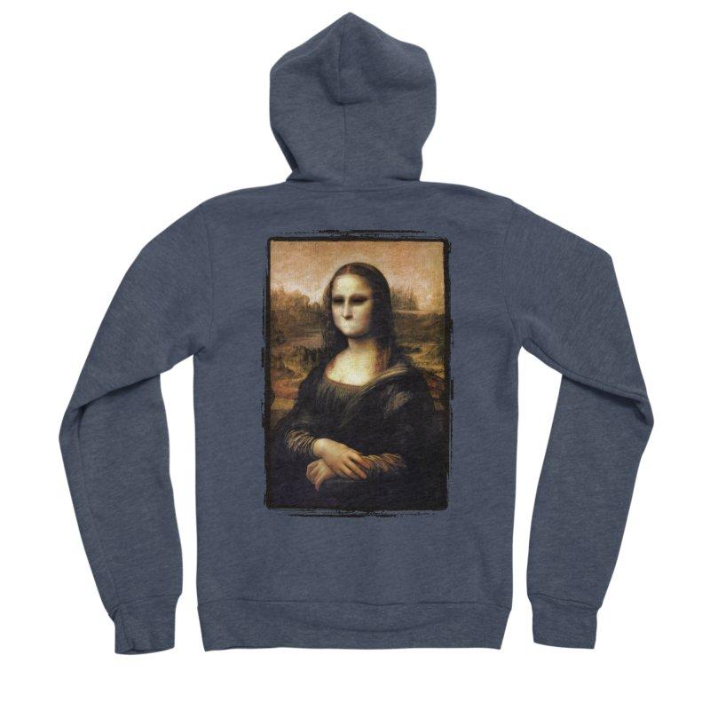 Silent Mona Lisa Women's Sponge Fleece Zip-Up Hoody by Kamonkey's Artist Shop