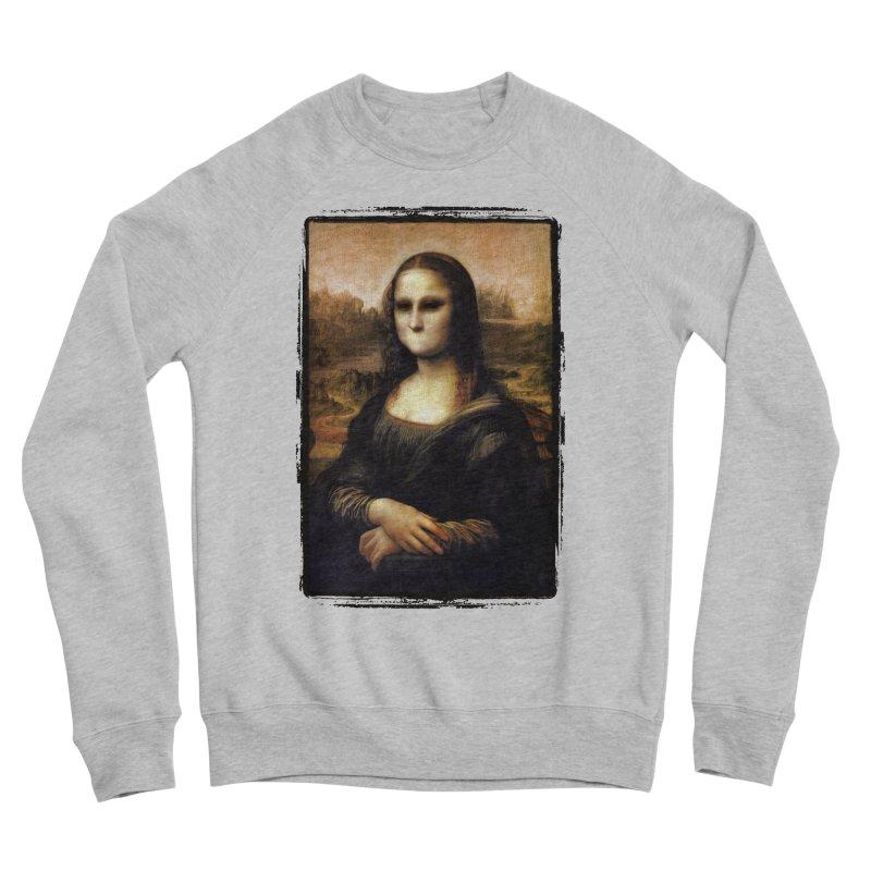 Silent Mona Lisa Women's Sponge Fleece Sweatshirt by Kamonkey's Artist Shop