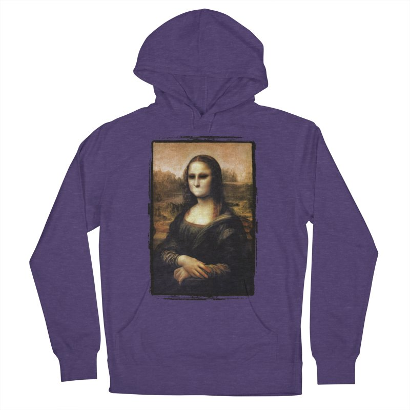 Silent Mona Lisa Men's French Terry Pullover Hoody by Kamonkey's Artist Shop