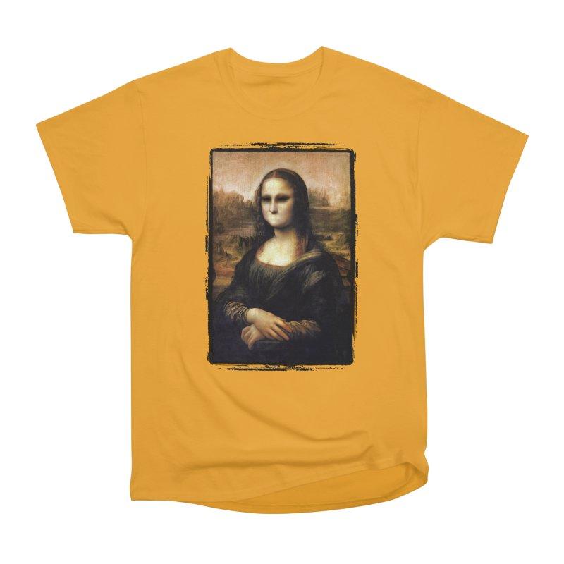 Silent Mona Lisa Men's Heavyweight T-Shirt by Kamonkey's Artist Shop