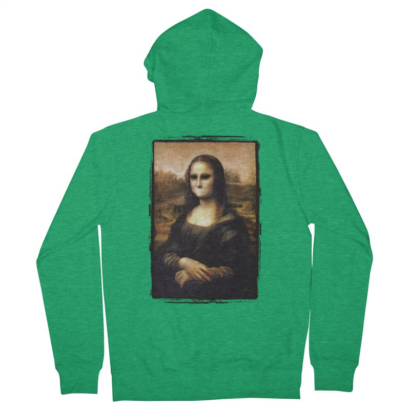 Silent Mona Lisa Women's French Terry Zip-Up Hoody by Kamonkey's Artist Shop