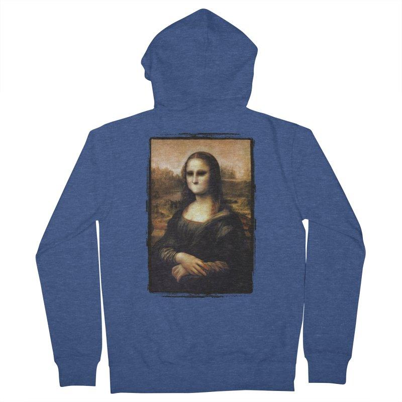 Silent Mona Lisa Women's French Terry Zip-Up Hoody by Kamonkey's Artist Shop