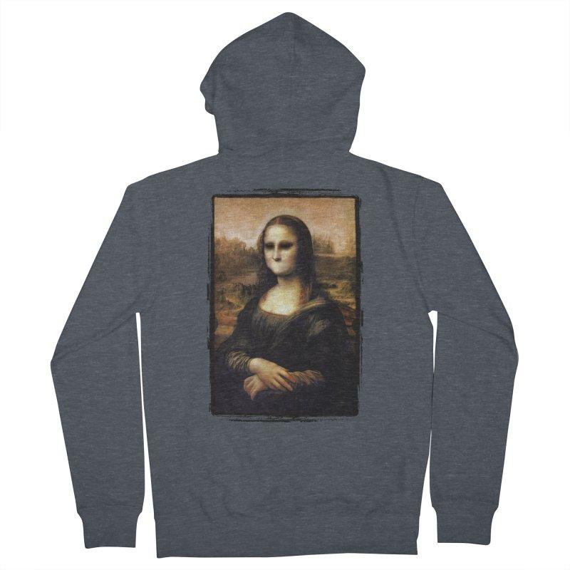 Silent Mona Lisa Men's French Terry Zip-Up Hoody by Kamonkey's Artist Shop