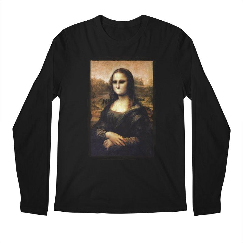 Silent Mona Lisa Men's Regular Longsleeve T-Shirt by Kamonkey's Artist Shop