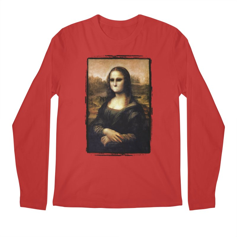 Silent Mona Lisa Men's Regular Longsleeve T-Shirt by Kamonkey's Artist Shop